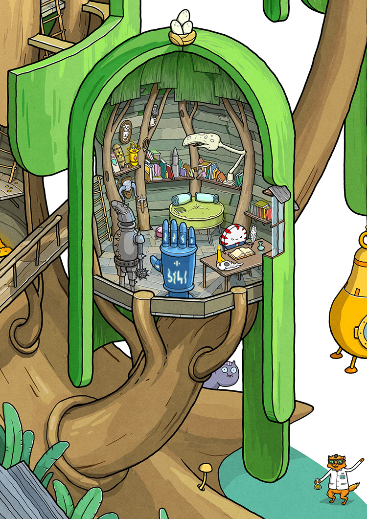 A Wonderful Adventure Time Illustration Featuring A