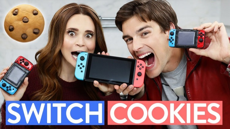 Rosanna Pansino Makes Nintendo Switch Controller Cookies With Help From MatPat