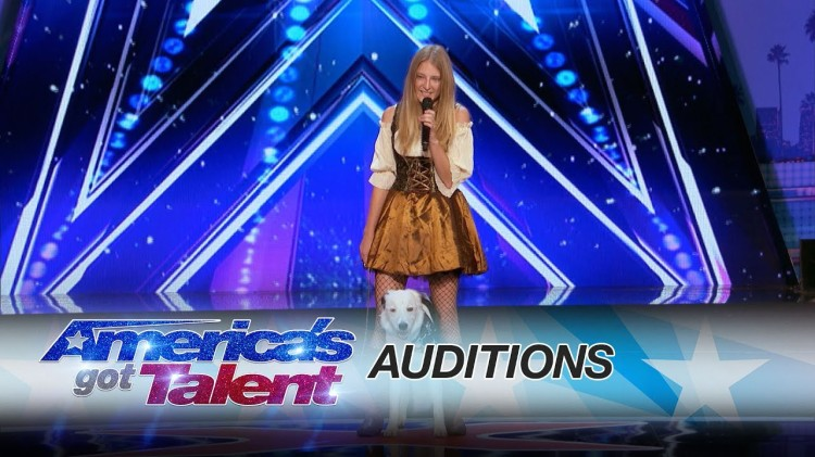 Sara Carson and Her Dancing Dog Hero Amaze Simon and the Audience on America's Got Talent