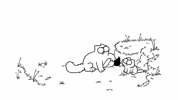 An Oddly Patient Simon's Cat Learns the Importance of Always Keeping His Eyes on the Prize