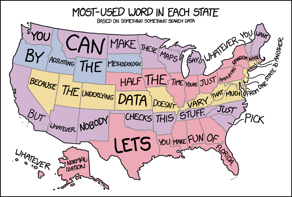 Making Fun of State Word Maps