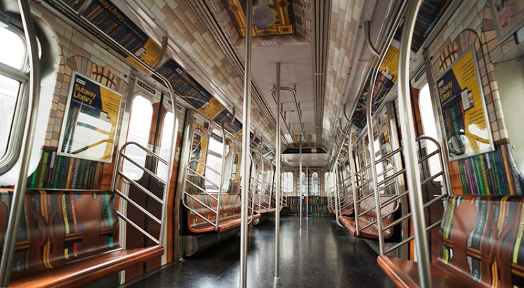 Subway Car Made to Look Like the New York Public Library's Rose Room Is Launching Online Collection