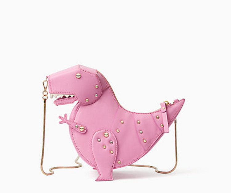 An Adorably Ferocious Petite Pink T- Rex Purse b02fb5463