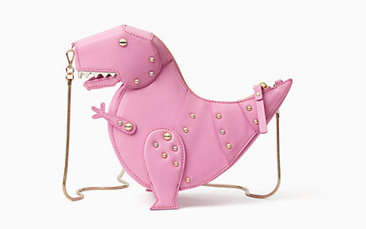 An Adorably Ferocious Petite Pink T- Rex Purse