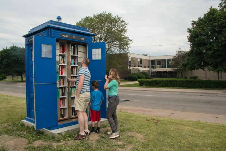 Detroit Man Combines His Love of Reading and 'Doctor Who' to Create a Free TARDIS Library
