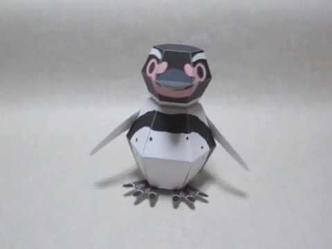 The Penguin Bomb, A Flat Origami Penguin That Assembles Itself When Dropped on a Hard Surface
