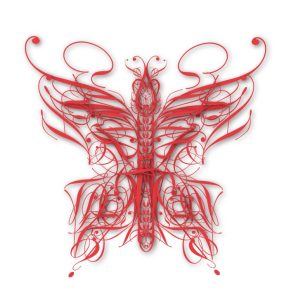 Typographic Insects Butterfly