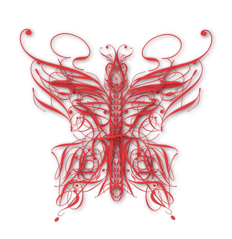 A Beautiful Series of Elegant Digital Insects Gracefully Formed From Letters of Different Fonts