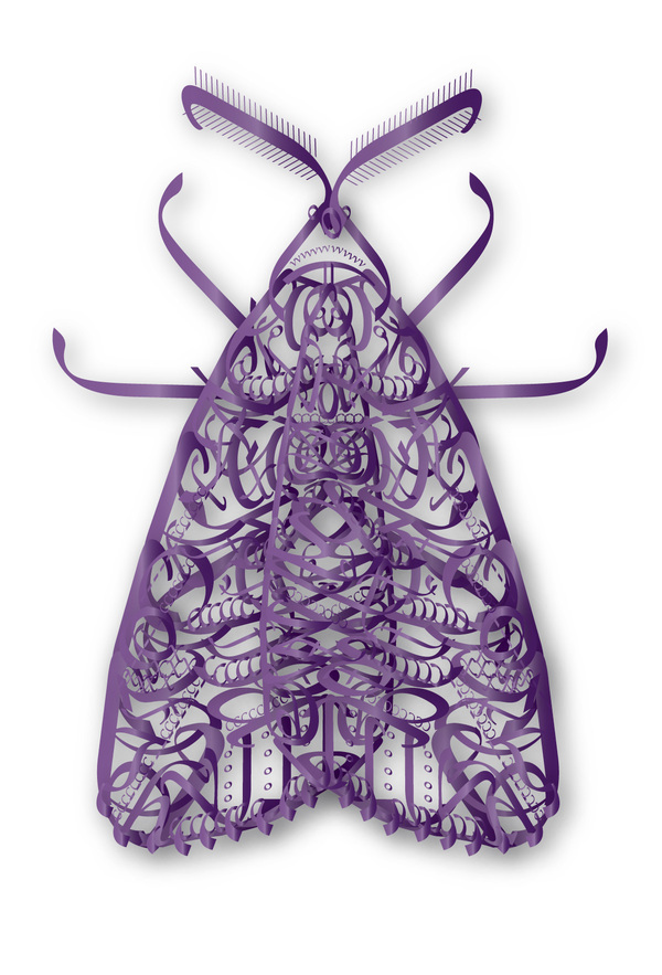 Typographic Insects Moth