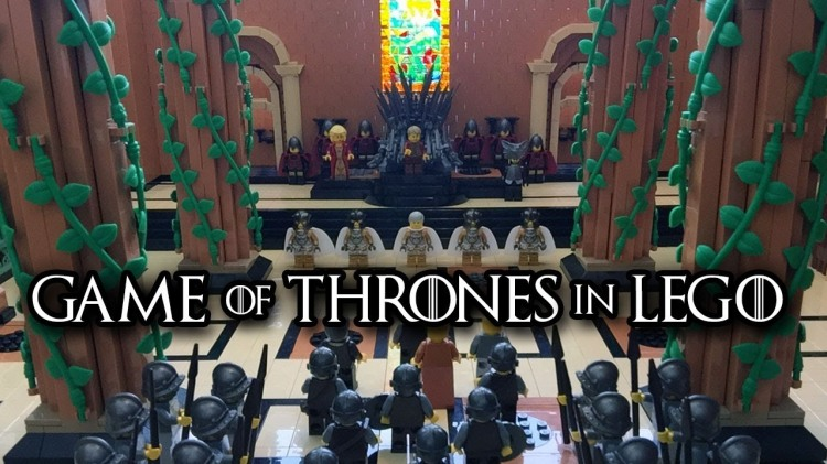 Amazing LEGO Version of the Red Keep Throne Room and Iron Throne From Game of Thrones