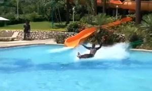 water slide man