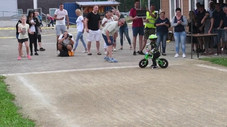 2-Year-Old Loses Walking Bike Race After Turning Around at the Finish Line to Ride the Track Again