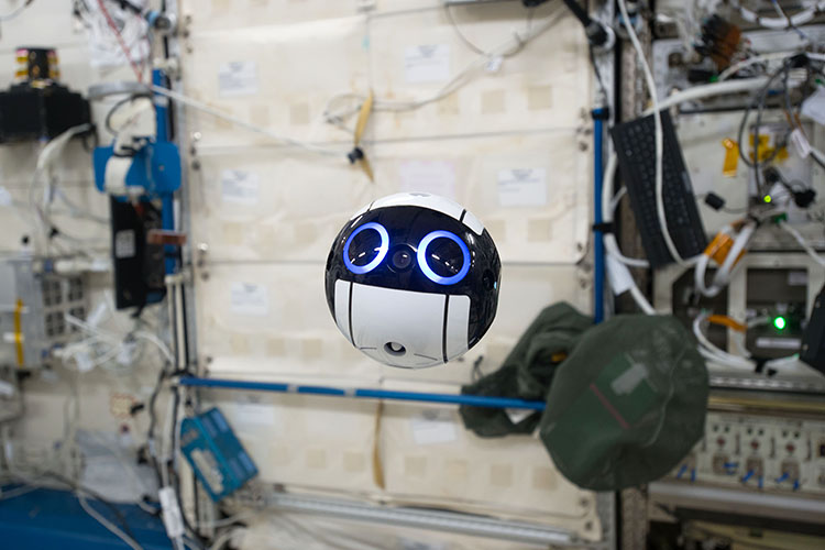 A Cute Japanese Camera Drone Watches Over Astronauts on the International Space Station