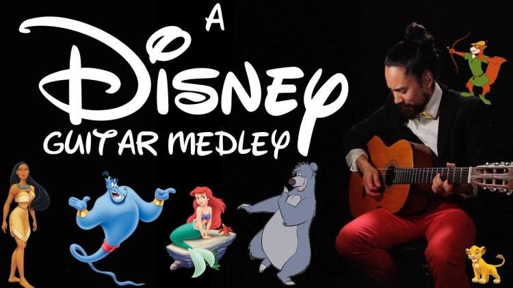 A Gorgeous Acoustic Medley of Disney Songs Flawlessly Played on a Classical Guitar