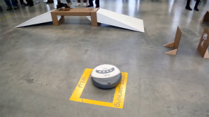 A Modified Racing Roomba Takes on an Obstacle Course at UC Berkeley's Student Vehicle Challenge