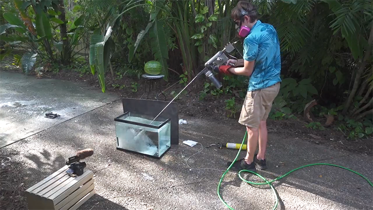 A Squirt Gun That Shoots Out Hot Molten Metal