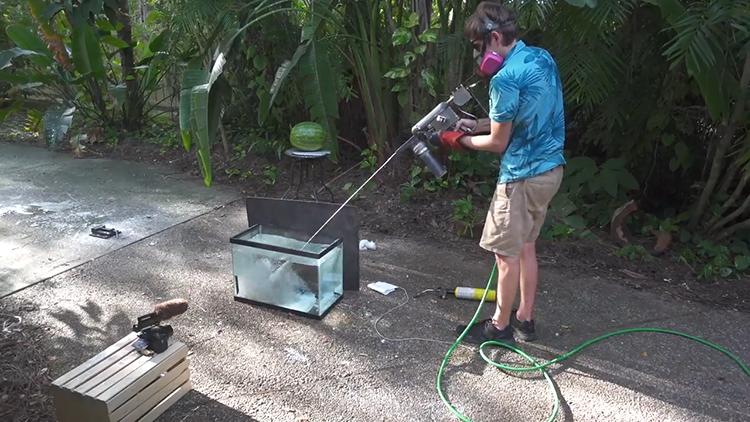 A Squirt Gun That Shoots Out Hot Molten Metal
