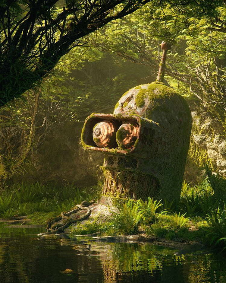 3D Illustrations of Pop Culture Icons Abandoned in a Post-Apocalyptic World