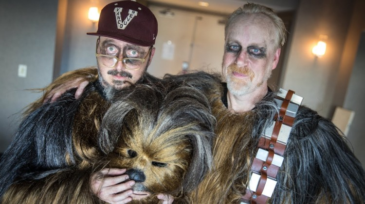 Adam Savage and John Hodgman Both Went Incognito at Comic-Con 2017 as Chewbacca