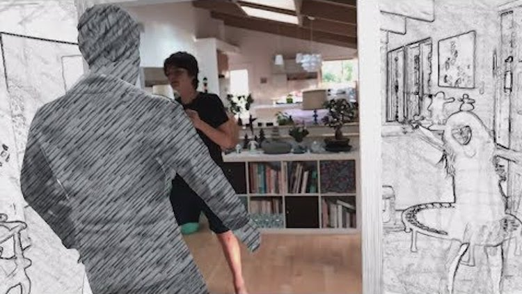 An Amazing Augmented Reality Interpretation of the Iconic A-HA 'Take on Me' Music Video