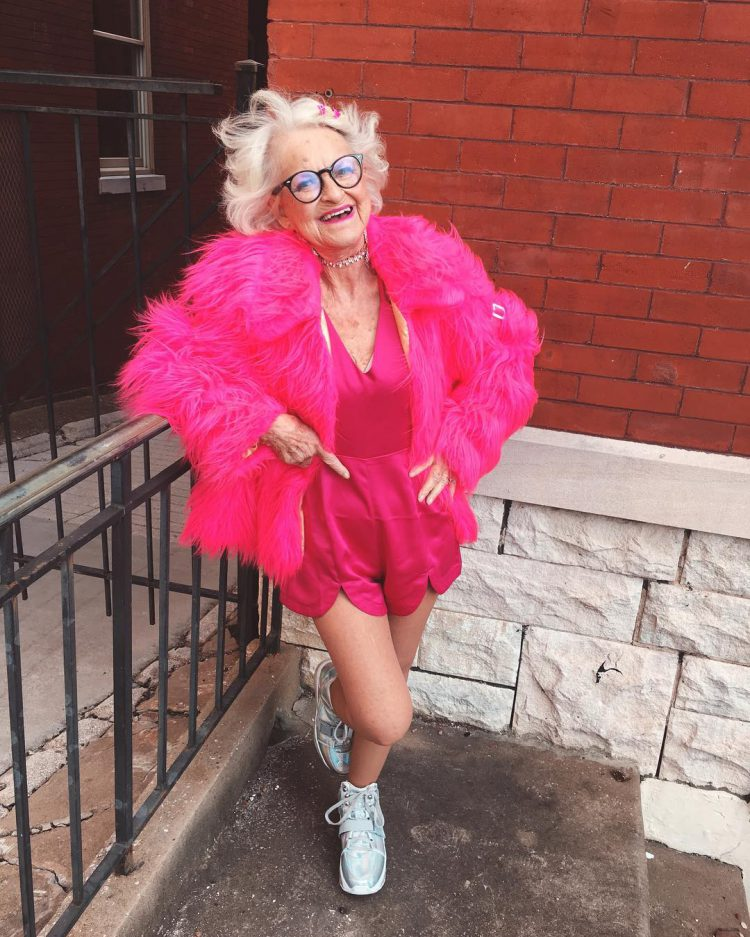 Baddiewinkle, A Vivacious 89 Year Old Woman With a Love For Bright Colors and Form Fitting Clothes