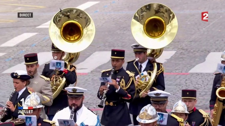 Bastille Day Military Band Plays an Amazing Medley of Daft Punk Songs for Macron and Trump