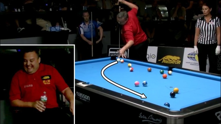 Chris Melling Has an Unbelievable Run of Pool Shots During the World Pool Series Tour
