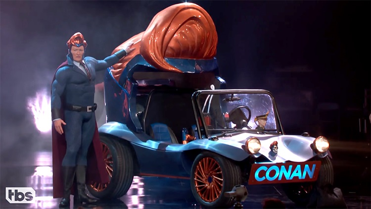 Conan Reveals His Superhero Vehicle by West Coast Customs at Comic-Con