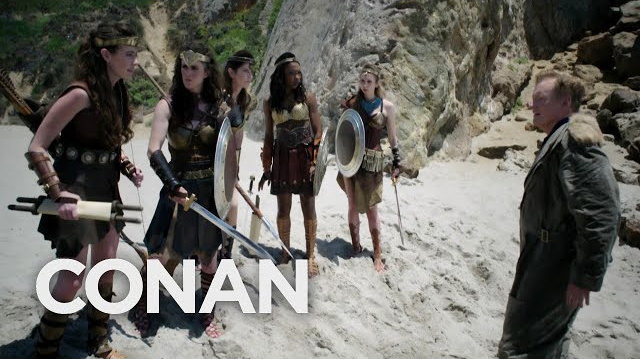 Conan O'Brien Lands on Paradise Island and Gets Rejected as a Man in Wonder Woman Cold Open