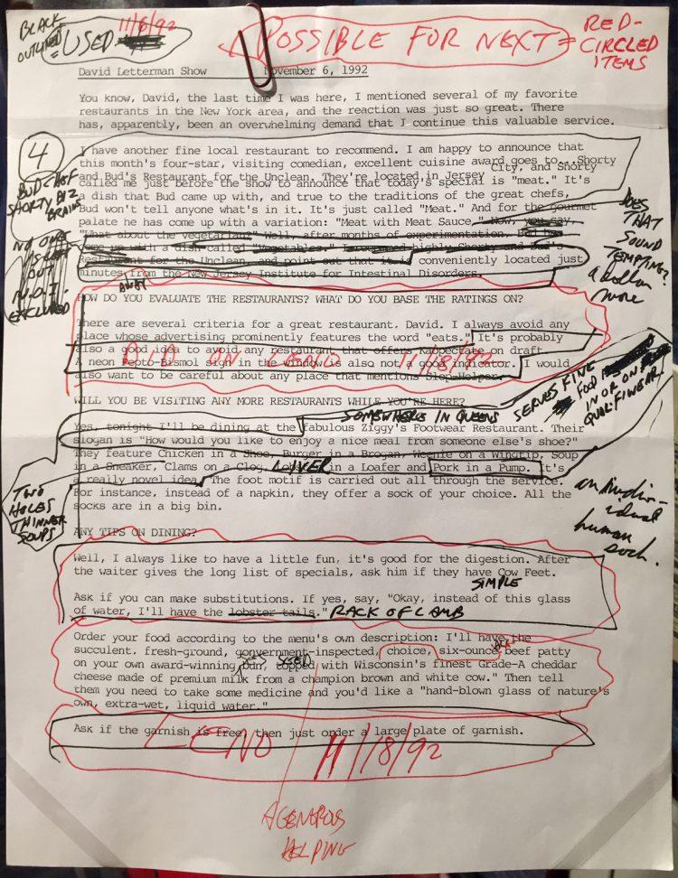 David Letterman Setlist 1990
