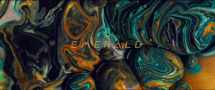 Emerald, A Mesmerizing Visual Composition of Swirling Colors Made From Paint, Soap and Oil