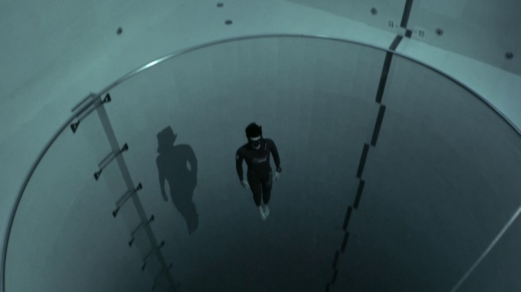 French Freediver Jumps to the Lowest Depths of the World's Deepest Swimming Pool on a Single Breath