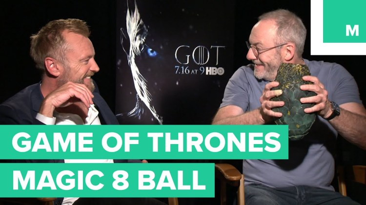 Game of Thrones Cast Members Ask a Dragon Egg Magic 8-Ball About the Fate of Their Characters