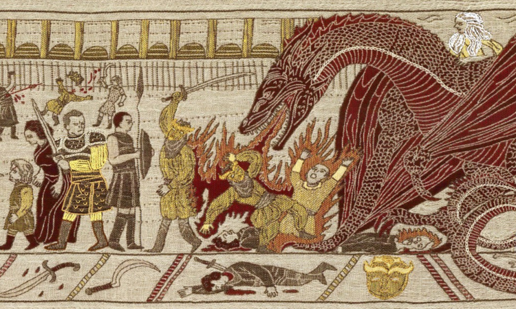 Giant 253-Foot Medieval Game of Thrones Tapestry Features Iconic Scenes From All Six Season