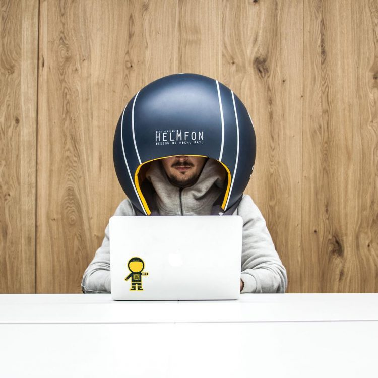 Helmfon, A Cleverly Designed Privacy Helmet That Blocks Out Noise for Greater Productivity