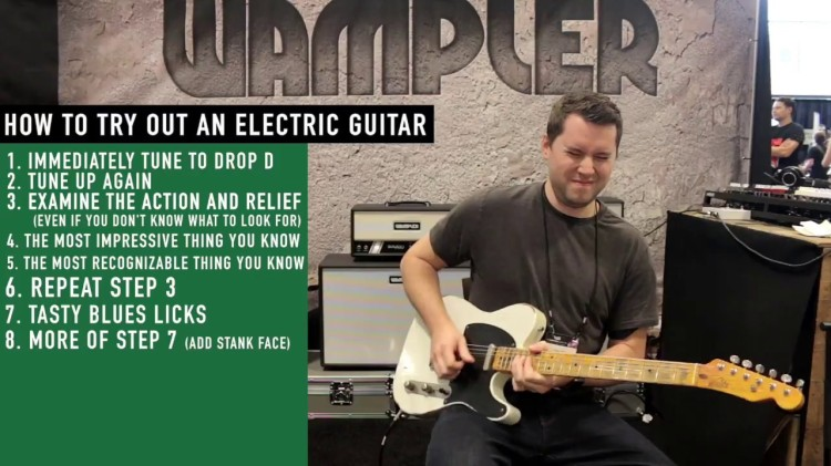 Hilarious Step-by-Step Tutorials Showing How to Try Out Guitars in the Most Obnoxious Ways Possible