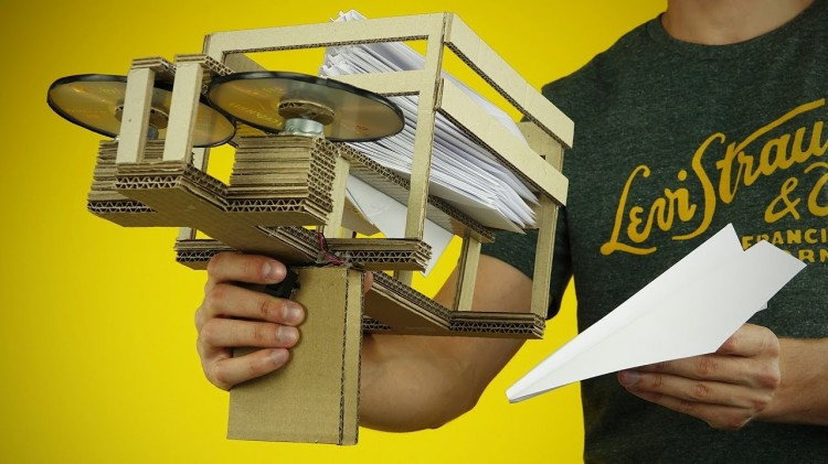 How to Make a Semi-Automatic Paper Airplane Launcher Out of Cardboard