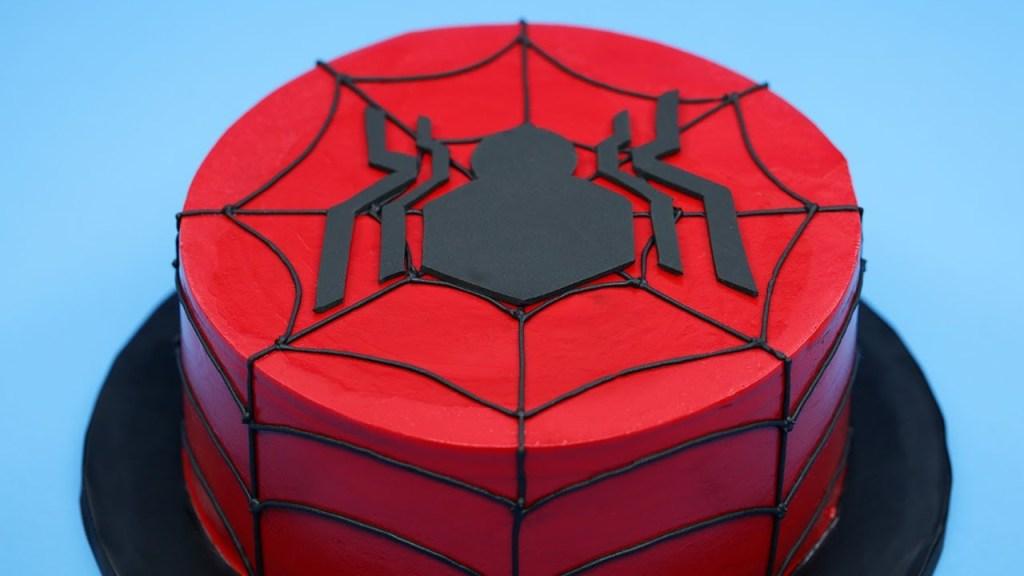 How to Make a Spider-Man Cake