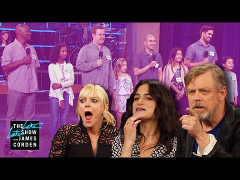 James Corden Plays a Game of 'I Am Your Father' With Mark Hamill, Anna Faris, and Jenny Slate