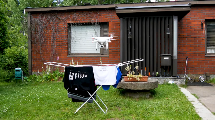 Drying Laundry With a Phantom 4 Pro Drone