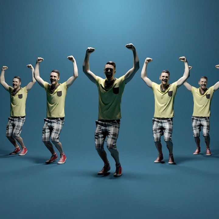 Makin' Moves, A Mesmerizing Animated Film Featuring Human 3D Scans Dancing a Surreal Dance