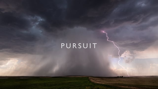 Pursuit, Stunning Timelapse Footage of a Newly Formed Tornado With Beautifully Lit Clouds