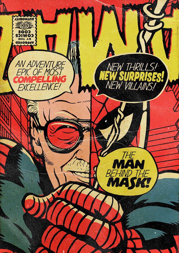 Stan Lee Illustrated as Marvel Superheroes