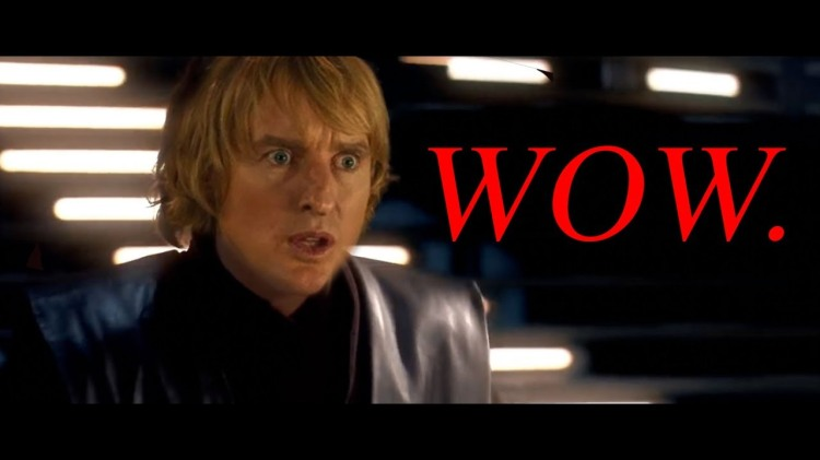 The Lightsaber Sounds From a Star Wars Battle Replaced With Owen Wilson Saying 'Wow'
