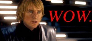 The Lightsaber Sounds From a Star Wars Battle Replaced With Owen Wilson Saying Wow