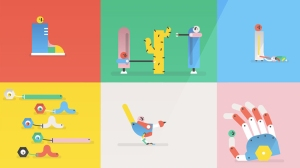 A Cute Animation About 'Silly Robots' Made of 50 Different Animated GIF Images