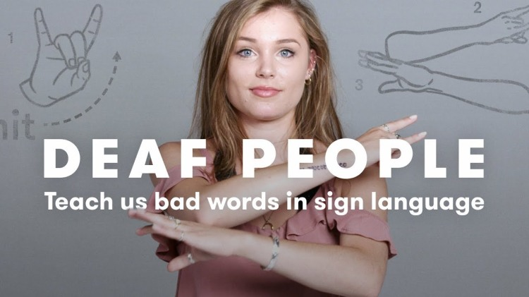 A Group of Deaf and Hearing Impaired People Demonstrate How to Curse In Sign Language