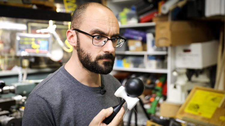Adam Savage and Vsauce Host Michael Stevens Build a Kendama Japanese Ball and String Toy