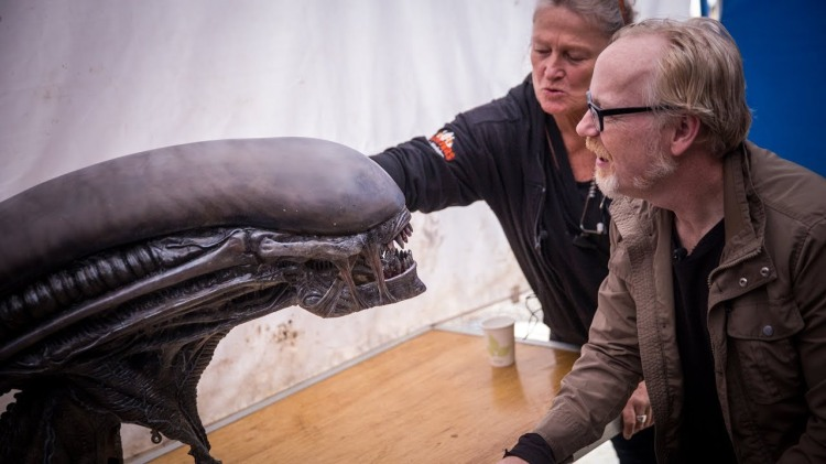 Adam Savage Gets an Up Close Look at the Creepy Animatronic Xenomorph Head From Alien: Covenant