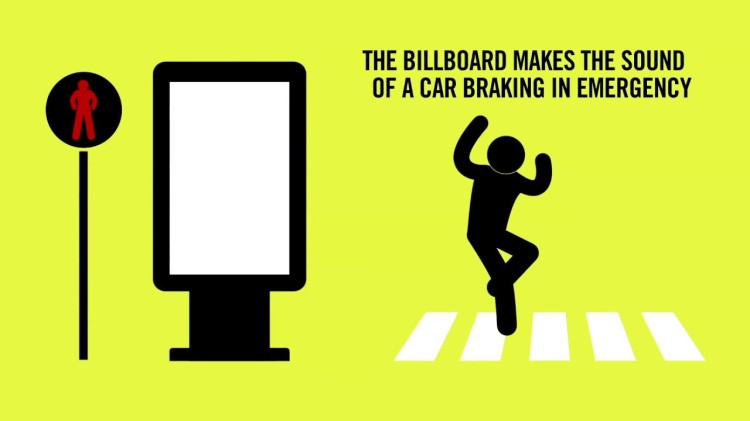 An Ingenious Interactive Billboard That Blares Crash Sounds at Pedestrians Who Cross Against the Light
